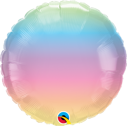 Round Shaped Pastel Ombre Foil Helium Balloon